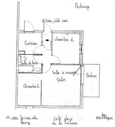 apppartement de bourg morel location de vacances pour 5 personnes dans le centre de valmorel. Black Bedroom Furniture Sets. Home Design Ideas